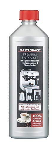 Gastroback 98175 Premium-Entkalker, 500 ml, für hochwertige Kaffee-und Espressomaschinen, Wasserkocher und Küchengeräte ohne säureempfindliche Oberfläche, Kunststoff