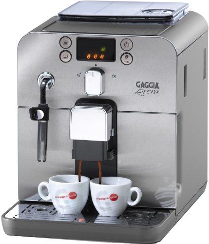 Gaggia RI9305/01 Kaffeevollautomat Brera (Dampfdüse) silber